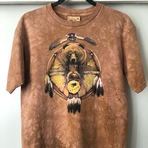 VTG-1998 The Mountain Tye Dye Grizzly Bear Tee